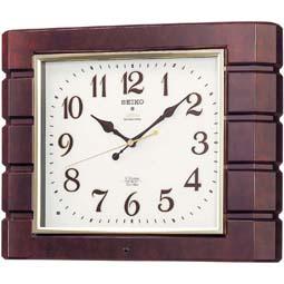 【お取寄せ品】セイコークロック電波掛時計「チャイム&ストライク」RX209B