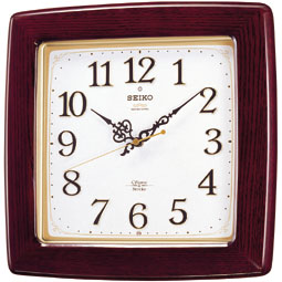 【お取寄せ品】セイコークロック電波掛時計「チャイム&ストライク」RX211B