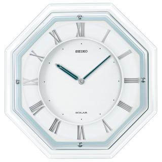 【お取寄せ品】薄型電波ソーラークロックのハイグレードモデル セイコー電波掛時計(ソーラープラス) SF503W