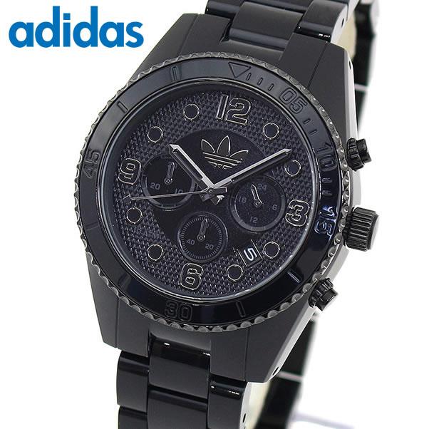 【送料無料】 adidas アディダス BRISBANE ブリスベン ADH2983 メンズ 腕時計 アナログ プラスチック 黒 オールブラック カレンダー クロノグラフ 海外モデル