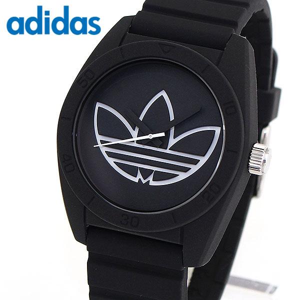 adidas アディダス SANTIAGO サンティアゴ 腕時計 メンズ シリコン ラバー クオーツ アナログ 黒 ブラック 海外モデル ADH3189 誕生日プレゼント 男性 女性 ギフト