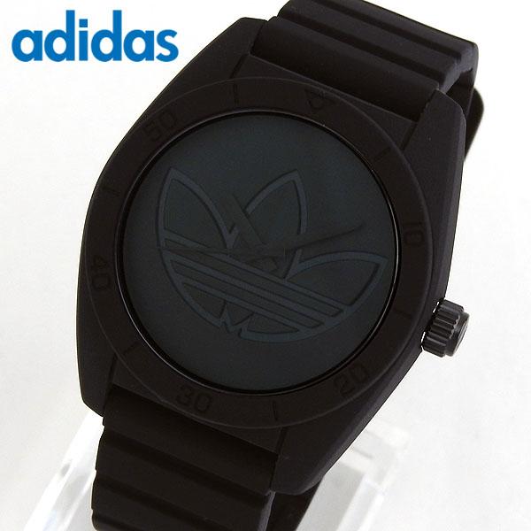 adidas アディダス SANTIAGO サンティアゴ メンズ 腕時計 黒 ブラック シリコン ラバー バンド カジュアル クオーツ アナログ ADH3199 海外 誕生日プレゼント 男性 女性 ギフト