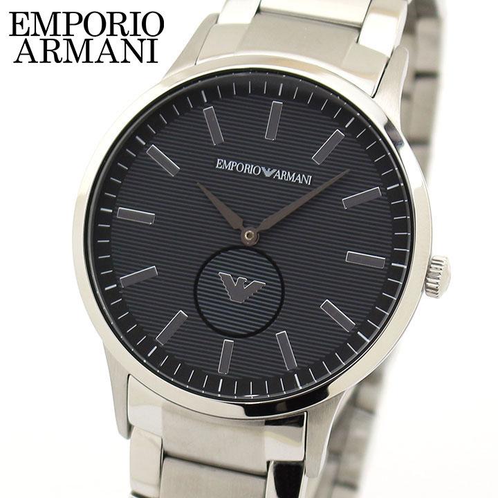 【先着!250円OFFクーポン】EMPORIO ARMANI エンポリオアルマーニ メンズ 腕時計 ウォッチ 黒 ブラック グレー 銀 シルバー AR11118 海外モデル 誕生日プレゼント 男性 ギフト ブランド