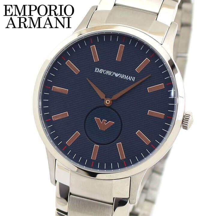 スーパーセール 【送料無料】EMPORIO ARMANI エンポリオアルマーニ メンズ 腕時計 ウォッチ ネイビー 銀 シルバー AR11137 海外モデル 誕生日プレゼント メンズ 父の日 ギフト ブランド