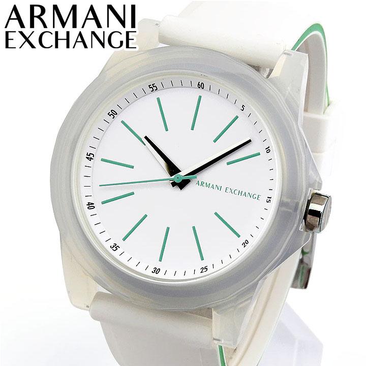 ARMANI EXCHANGE アルマーニ エクスチェンジ AX4359 レディース 腕時計 シリコン ラバー 白 ホワイト 緑 グリーン 海外モデル