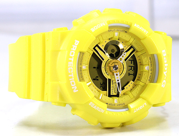 725f296119 キッズ 海外モデル イエロー BABYG BA110 bigcase 男の子 ブランド 母の日 誕生日プレゼント 時計