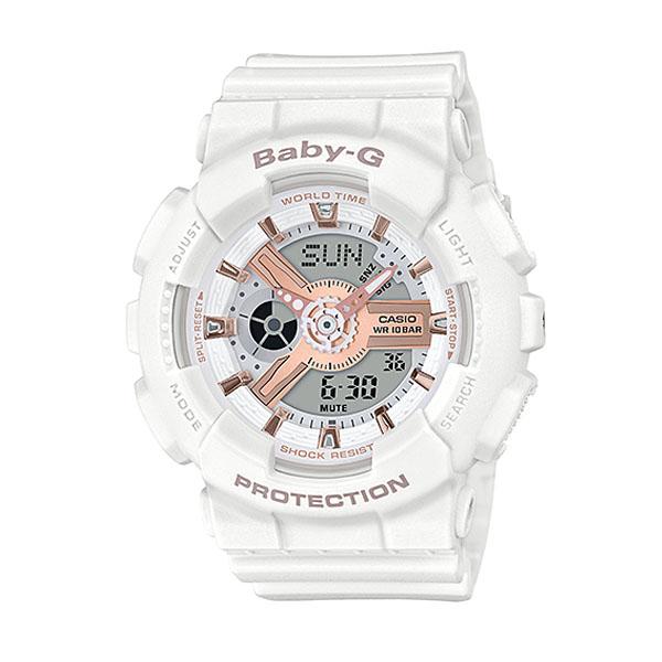 CASIO カシオ Baby-G ベビ−G BA-110RG-7AJF レディース 腕時計 ウレタン 多機能 クオーツ アナログ デジタル 白 ホワイト ピンクゴールド ローズゴールド 国内正規品 誕生日プレゼント 女性 卒業祝い 入学祝い ギフト ブランド