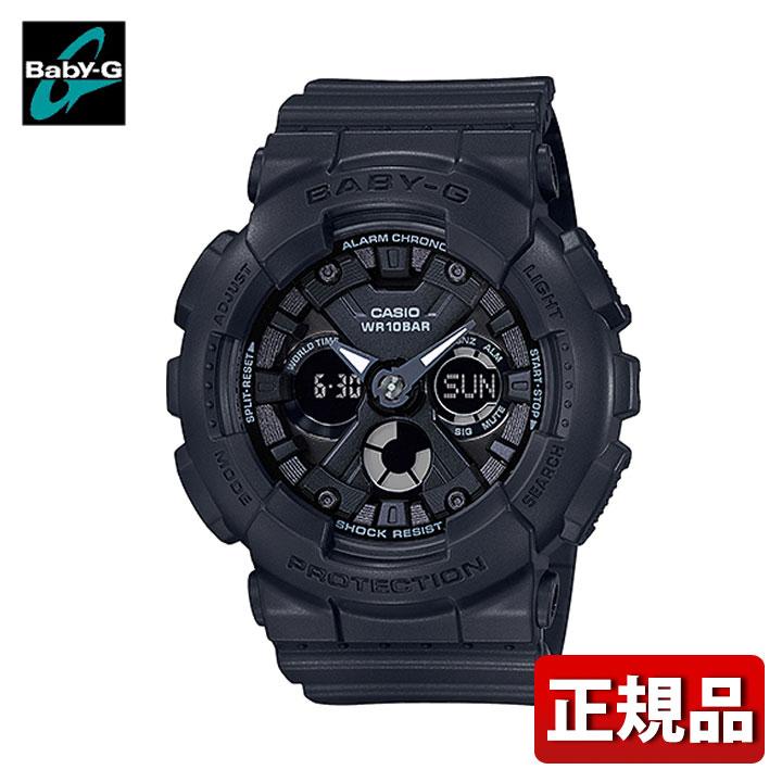 CASIO カシオ Baby-G ベビ-G BA-130-1AJF レディース 腕時計 ウレタン 多機能 クオーツ アナログ デジタル 黒 ブラック 国内正規品