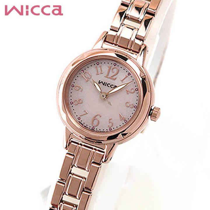 【送料無料】シチズン ウィッカ CITIZEN wicca 腕時計 レディース ソーラーテック KH9-965-91 ピンクゴールド 国内正規品 ステンレス 商品到着後レビューを書いて7年保証 誕生日プレゼント 女性 ギフト