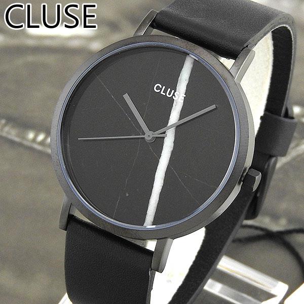 【送料無料】 CLUSE クルース La Roche ラ・ロシュ CL40001 38mm 海外モデル レディース 腕時計 ウォッチ 革ベルト レザー クオーツ アナログ 黒 ブラック