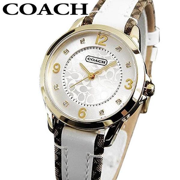 【先着!250円OFFクーポン】COACH コーチ NEW CLASSIC SIGNATURE ニュークラシックシグネチャー 14501618 海外モデル レディース 腕時計 ウォッチ 白 ホワイト 金 ゴールド 誕生日プレゼント 女性 ギフト ブランド