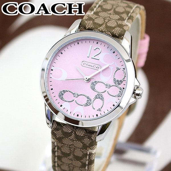 【送料無料】COACH コーチ NEW CLASSIC SIGNATURE ニュー クラシック シグネチャー 14501621 海外モデル レディース 女性用 腕時計 レザー ピンク シルバー