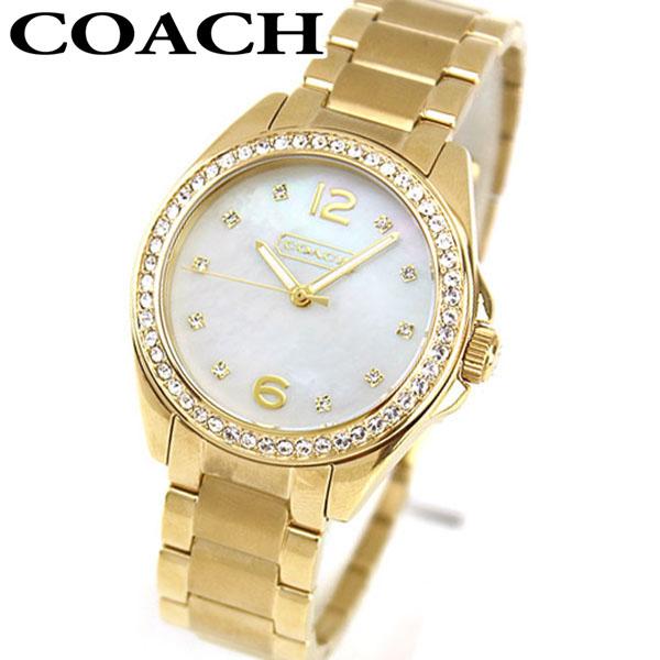 【送料無料】 COACH コーチ 14501657 レディース 腕時計 ウォッチ メタル バンド クオーツ カジュアル アナログ 金 ゴールド 海外モデル