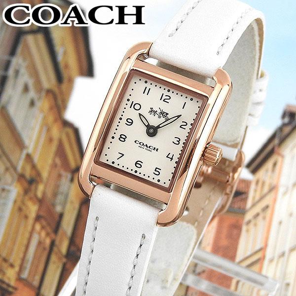 【送料無料】 COACH コーチ THOMPSON トンプソン 14502298 海外モデル レディース 腕時計 ウォッチ 革ベルト レザー クオーツ アナログ 白 ホワイト 金 ピンクゴールド