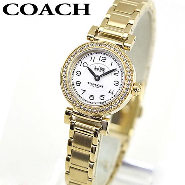 COACH コーチ 14502403 海外モデル レディース 腕時計 ウォッチ メタル バンド クオーツ アナログ 白 ホワイト 金 ゴールド ラインストーン 誕生日 女性 ギフト プレゼント ブランド