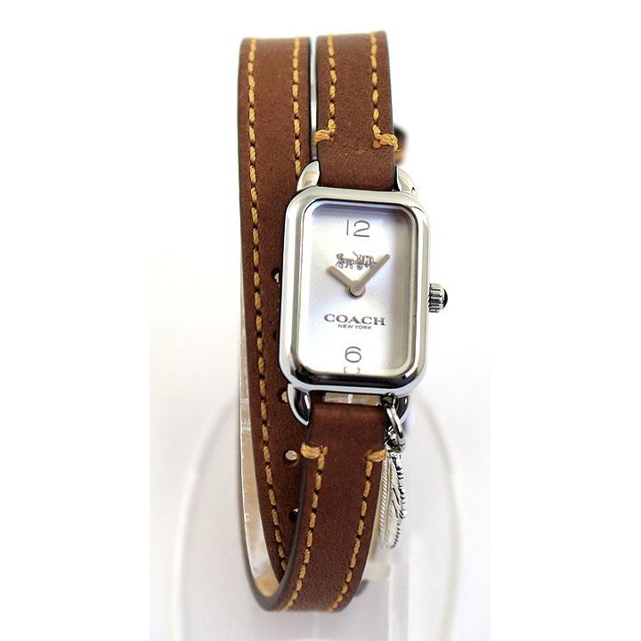 COACH コーチ LUDLOW ラドロー 14502775 レディース 腕時計 革ベルト レザー シルバー ブラウン 茶色 誕生日プレゼント 女性 卒業祝い 入学祝い ギフト 海外モデル