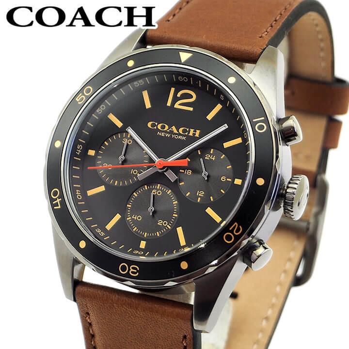 COACH コーチ 14602070 メンズ 腕時計 革ベルト レザー ブラック 黒 ブラウン 茶色 誕生日プレゼント 男性 ギフト 海外モデル