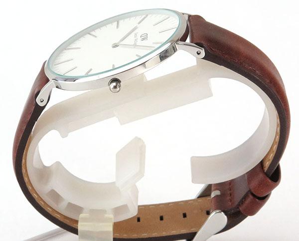 BOX訳ありDaniel Wellington ダニエルウェリントン メンズ 腕時計レザー 革ベルト バンド 茶 ブラウン シルバー アナログ クオーツ 人気 ペア 0207DW 並行輸入品 40mm