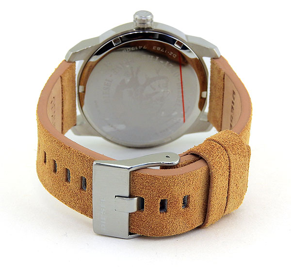 DIESEL ディーゼル ARMBAR アームバー メンズ 腕時計 革ベルト レザー クオーツ アナログ 白 ホワイト 茶 ブラウン 銀 シルバー 誕生日プレゼント 男性 卒業祝い 入学祝い ギフト DZ1783 海外モデル ブランド