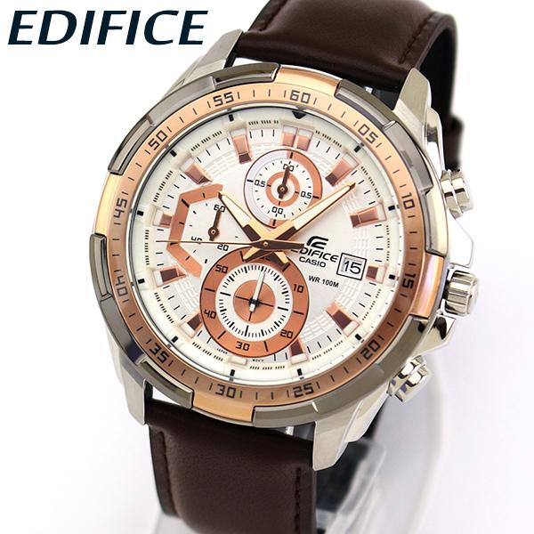 aca05bb9e1 【送料無料】CASIOカシオEDIFICEエディフィスEFR-539BK-1AVメンズ腕時計革 ...