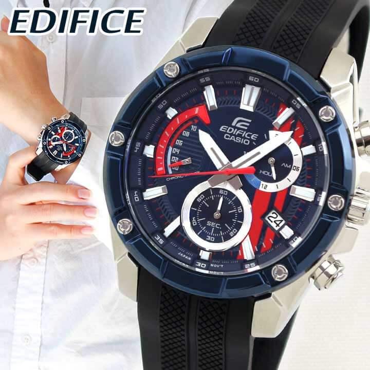【クーポンで2000円OFF!12/11 1:59まで】【送料無料】 CASIO カシオ EDIFICE エディフィス Scuderia Toro Rosso Limited 限定モデル EFR-559TRP-2A メンズ 腕時計 ウレタン 黒 ブラック 青 ブルー 海外モデル