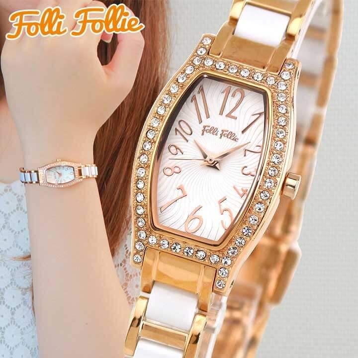【送料無料】 Folli Follie フォリフォリ DEBUTANT デビュタント WF8B026BPW-XX レディース 腕時計 メタル 白 ホワイト ピンクゴールド ローズゴールド