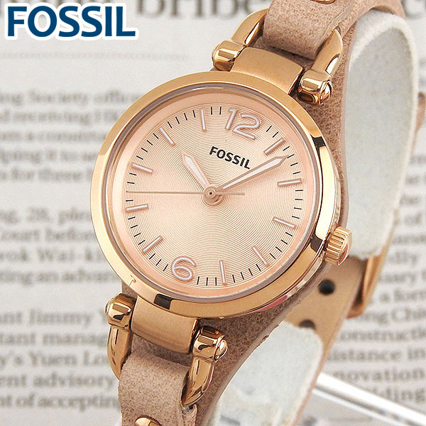 【送料無料】 FOSSIL フォッシル ES3262 海外モデル レディース 腕時計 ウォッチ 革ベルト レザー クオーツ カジュアル アナログ 金 ピンクゴールド ギフト