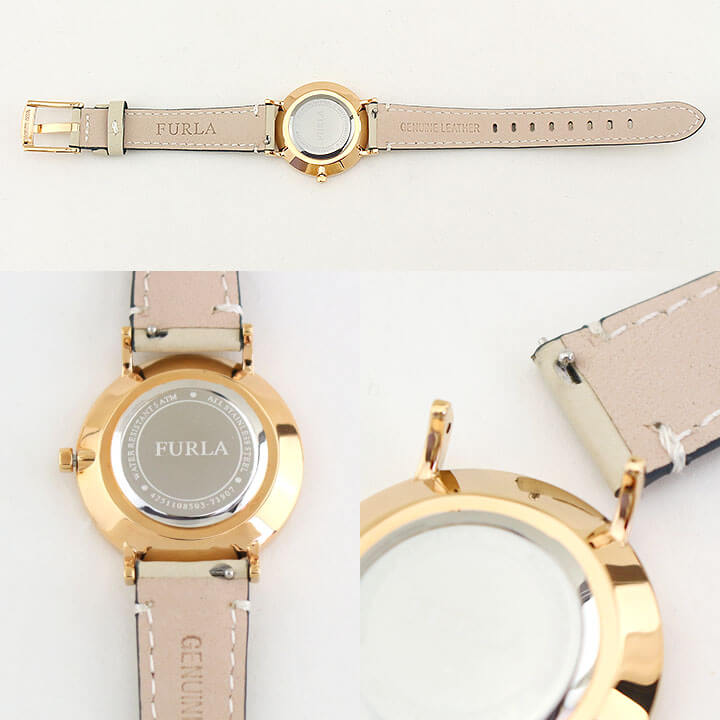 【】FURLA フルラ GIADA ジャーダ 33mm R4251108503 レディース 腕時計 革ベルト レザー ピンクゴールド  ローズゴールド ベージュ 誕生日プレゼント 女性 ギフト 海外モデル