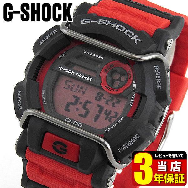CASIO カシオ G-SHOCK Gショック ジーショック GD-400-4 海外モデル メンズ 腕時計 ウォッチ クオーツ デジタル 赤 レッド【あす楽対応】スポーツ 商品到着後レビューを書いて3年保証 誕生日プレゼント 男性 ギフト ブランド