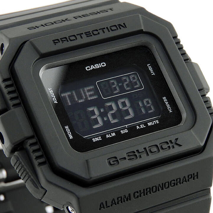 CASIO カシオ G-SHOCK Gショック ジーショック DW-D5500BB-1 BB Series メンズ 腕時計 黒 ブラック デジタル 誕生日プレゼント 男性 ギフト 海外モデル