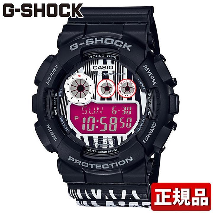 【送料無料】 CASIO カシオ G-SHOCK Gショック ジーショック MAROK コラボレーションモデル GD-120LM-1AJR メンズ 腕時計 ウレタン 多機能 クオーツ デジタル 黒 ブラック 白 ホワイト 紫 パープル 国内正規品