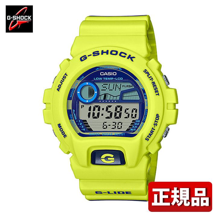CASIO カシオ G-SHOCK Gショック ジーショック G-LIDE スポーツライン GLX-6900SS-9JF メンズ 腕時計 ウレタン 多機能 クオーツ デジタル 黄色 イエロー 青 ブルー 国内正規品