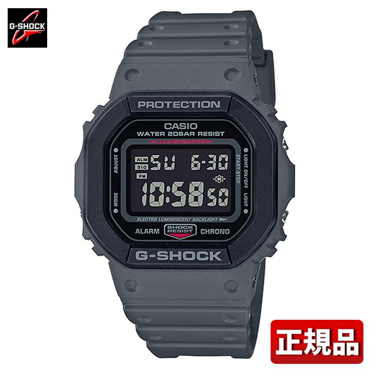 CASIO カシオ G-SHOCK Gショック ジーショック DW-5610SU-8JF Utility Color ユーティリティーカラー メンズ 時計 腕時計 スクエア 四角 ウレタン クオーツ デジタル 黒 ブラック グレー 国内正規品