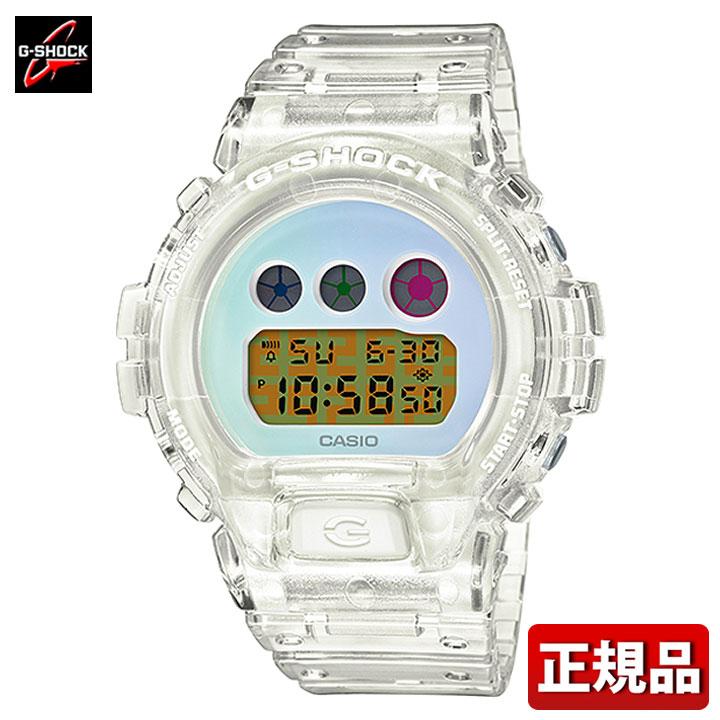 CASIO カシオ G-SHOCK Gショック ジーショック DW-6900SP-7JR メンズ 時計 腕時計 ウレタン クオーツ デジタル 白 ホワイト 青 ブルー スケルトン 国内正規品