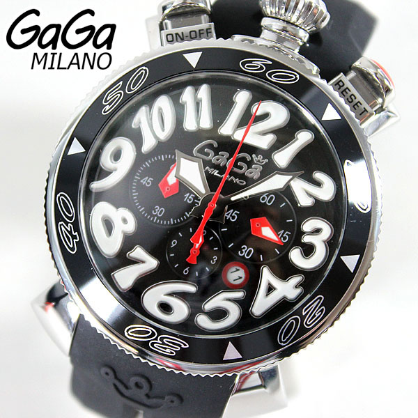 6050.8【GAGA MILANO】ガガミラノメンズ 腕時計 時計 ラグジュアリー CHRONO 48MM クロノ 海外直輸入モデル 誕生日プレゼント ギフト ブランド