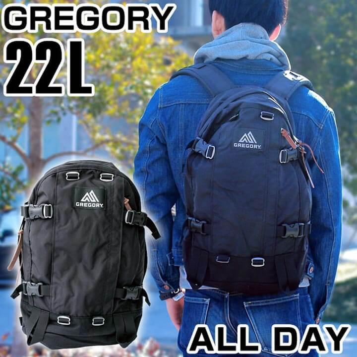 【送料無料】 GREGORY グレゴリー ALL DAY オールデイ バッグ リュックサック バックパック リュック デイパック カバン 65190-1041 黒 ブラック 22L 海外モデル メンズ 鞄 ナイロン 通勤 通学