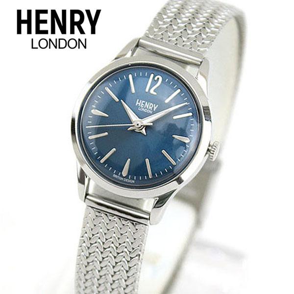 【送料無料】 HENRY LONDON ヘンリーロンドン KNIGHTSBRIDGE ナイツブリッジ HL25-M-0109 海外モデル レディース 腕時計 ウォッチ 青 ネイビー 銀 シルバー