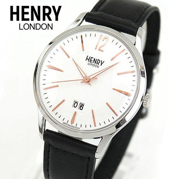 【先着!250円OFFクーポン】HENRY LONDON ヘンリーロンドン HIGHGATE ハイゲート HL41-JS-0067 海外モデル メンズ 腕時計 ウォッチ 革ベルト レザー 黒 ブラック 誕生日プレゼント 男性 ギフト ブランド