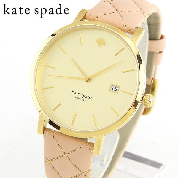 【送料無料】 KateSpade ケイトスペード ケートスペード 1YRU0844 海外モデル レディース 腕時計 ウォッチ 革ベルト レザー クオーツ アナログ ピンク 金 ゴールド