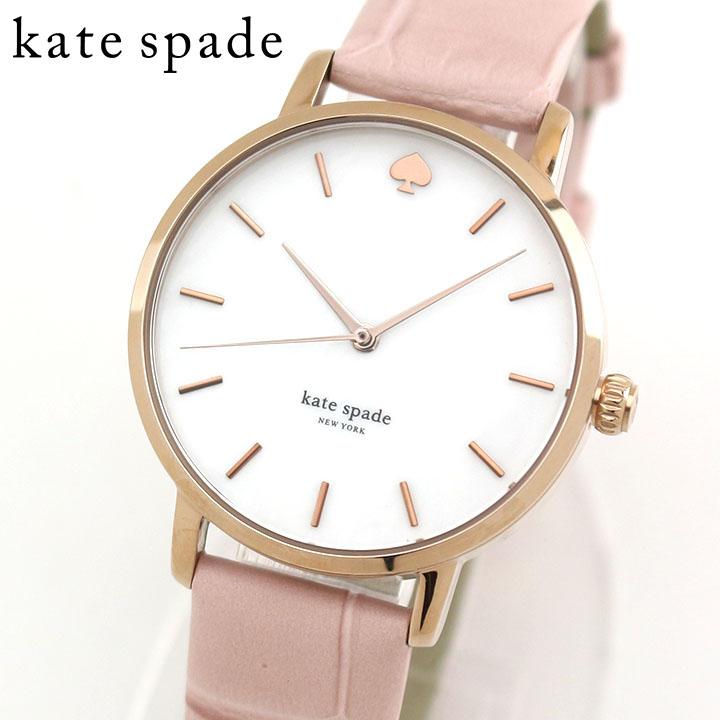 KateSpade ケイトスペード ケートスペード NEW YORK レディース 腕時計 革バンド レザー 白 ホワイト ピンク カジュアル クオーツ アナログ KSW1425 海外モデル 誕生日プレゼント 女性 ギフト ブランド