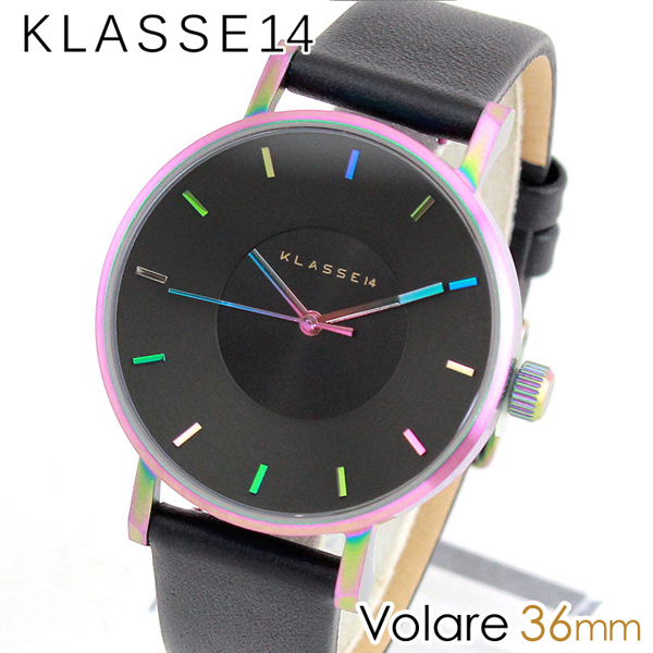【送料無料】 Klasse14 クラス14 KLASSE14 Volare VO15TI001W 海外モデル レディース 腕時計 ウォッチ メタル バンド クオーツ アナログ 黒 ブラック レインボー 36mm