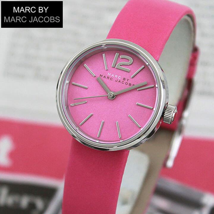 【送料無料】 MARC BY MARC JACOBS マークバイマーク ジェイコブス PEGGY ペギー MBM1369 海外モデル レディース 腕時計 ウォッチ 革ベルト レザー クオーツ アナログ ピンク