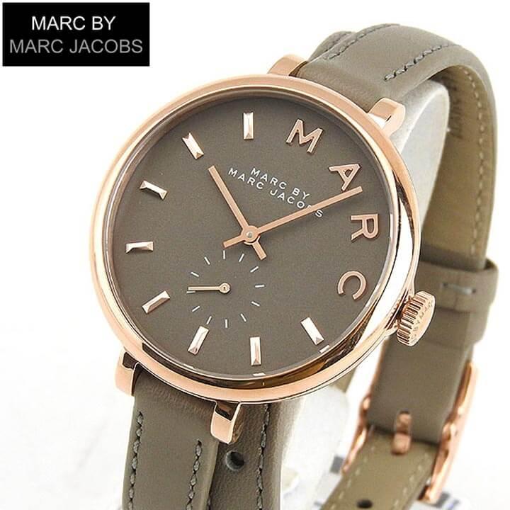 MARC BY MARC JACOBS マークバイマーク ジェイコブス MBM8661 海外モデル サリー Sally レディース 腕時計 ウォッチ 革ベルト レザー クオーツ アナログ 金 ピンクゴールド グレー 誕生日プレゼント ギフト ブランド