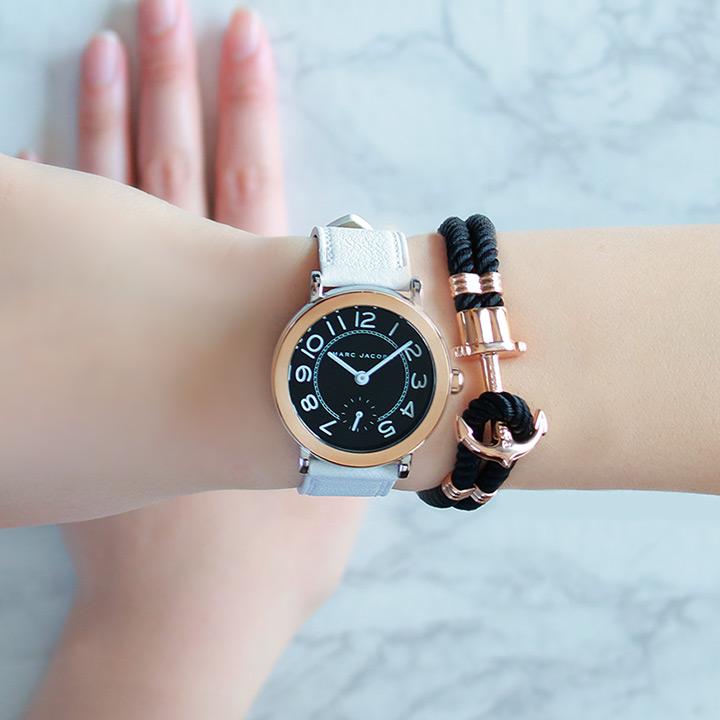 【ラッピング済み】MARC JACOBS マークジェイコブス レディース 腕時計 MJ1515 ポールヒューイット ブレスレット 白 ホワイト 黒 ブラック ネイビー 誕生日プレゼント 女性 卒業祝い 入学祝い ギフト ブランド