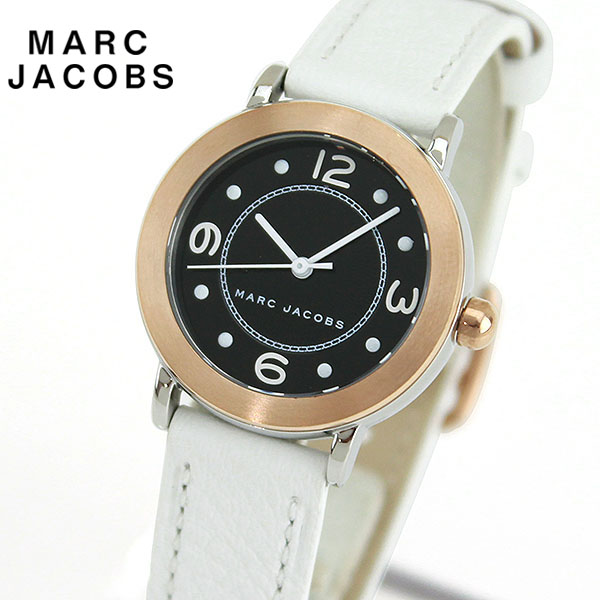 【先着!250円OFFクーポン】MARC JACOBS マークジェイコブス RELEY ライリー MJ1517 海外モデル レディース 腕時計 ウォッチ 革ベルト レザー アナログ 黒 ブラック 白 ホワイト 誕生日プレゼント 女性 ギフト ブランド