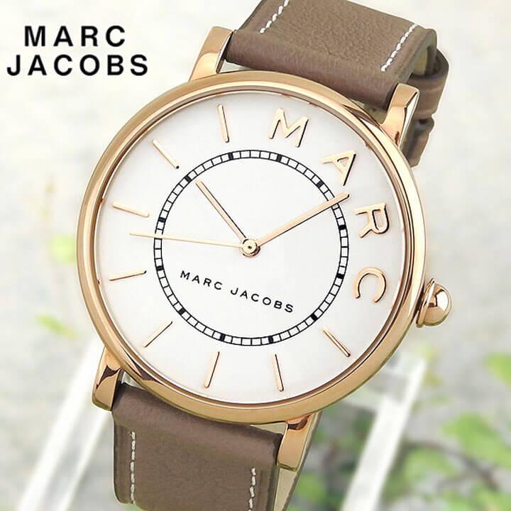 【送料無料】 MARC JACOBS マーク ジェイコブス ロキシー ブラウンベージュ レディース 腕時計 革バンド レザー クオーツ アナログ MJ1533 海外モデル 誕生日プレゼント ギフト