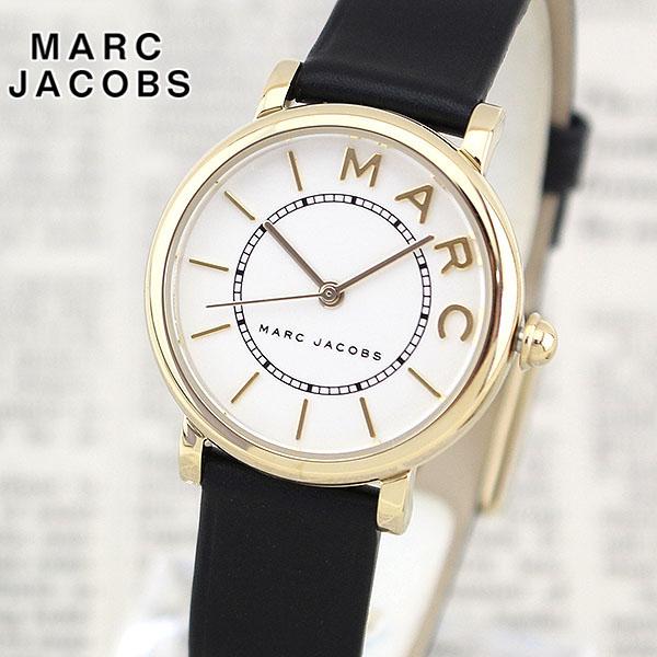 【送料無料】 MARC JACOBS マーク ジェイコブス ROXY ロキシー MJ1537 海外モデル レディース 腕時計 ウォッチ レザー 革ベルト クオーツ アナログ 黒 ブラック 白 ホワイト