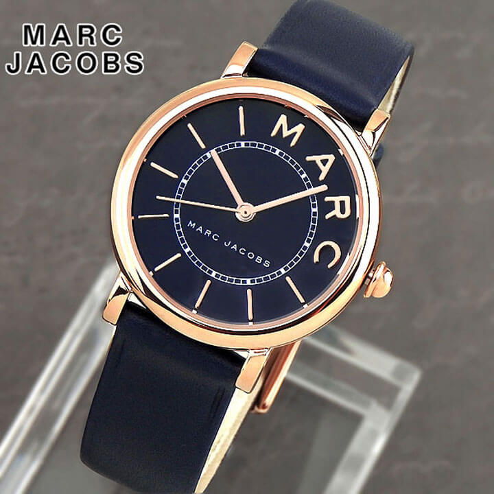 【送料無料】MARC JACOBS マーク ジェイコブス ロキシー レディース 腕時計 革バンド レザー 青 ネイビー 金 ゴールド クオーツ アナログ MJ1539 海外モデル 誕生日プレゼント ギフト