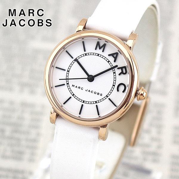 【送料無料】 MARC JACOBS マーク ジェイコブス ROXY ロキシー MJ1562 海外モデル レディース 腕時計 ウォッチ 革ベルト レザー クオーツ アナログ 白 ホワイト 金 ピンクゴールド