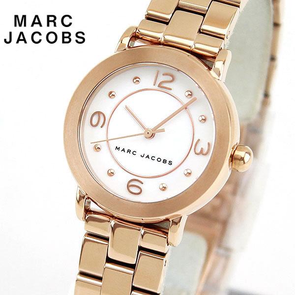 【送料無料】 MARC JACOBS マーク ジェイコブス RILEY ライリー MJ3474 海外モデル レディース 腕時計 ウォッチ メタル バンド アナログ 白 ホワイト 金 ピンクゴールド
